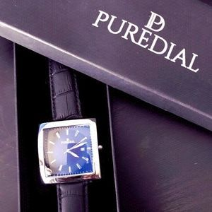 """PUREDIAL Watch """"The Square Legacy-Black/Silver"""""""
